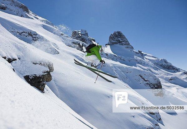 Skifahrer Skisport Hang