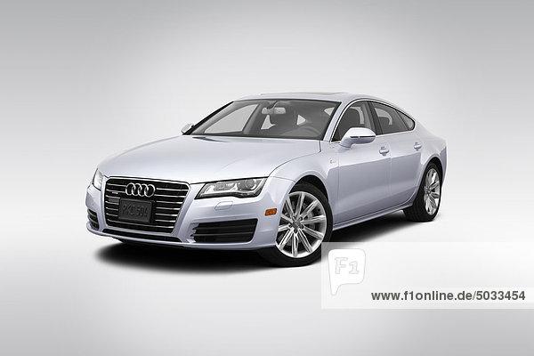frontal Ansicht Flachwinkelansicht Silber Audi Winkel