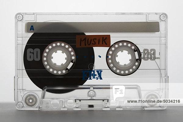 Durchsichtige Musikkassette