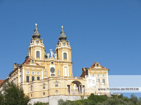 Österreich  Blick auf das Kloster Melk