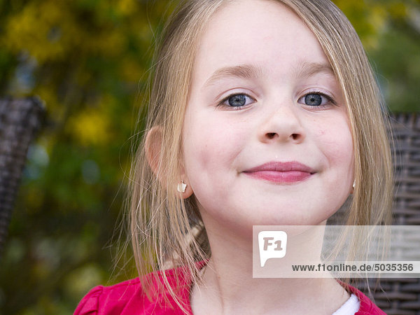 Close up of girl  smiling  portrait