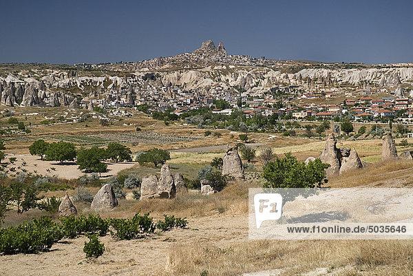 Turkey  Cappadocia  Goreme  View of valleys