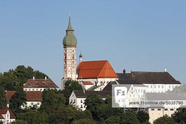 Deutschland  Bayern  Oberbayern  Ansicht der Abtei Andechs