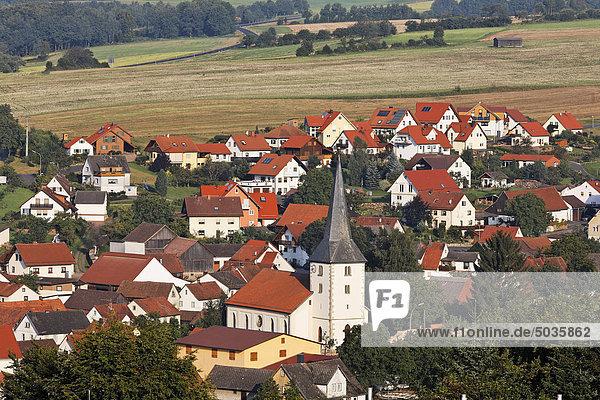 Deutschland  Bayern  Franken  Rhön  Geroda  Gebäudeansicht