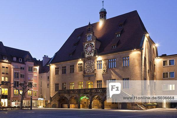 Deutschland  Baden-Württemberg  Heilbronn  Historisches Rathaus mit astronomischer Uhr