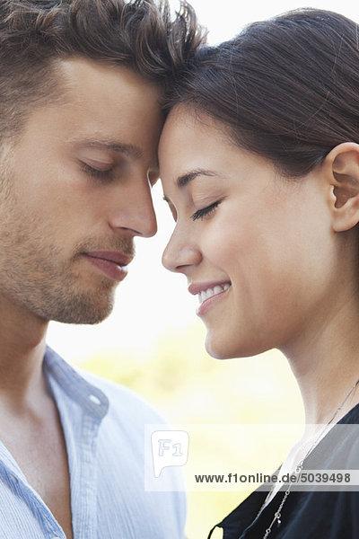 Close-up of a romantic couple