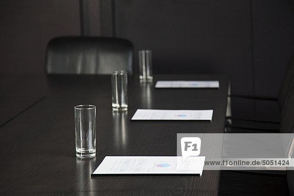 Geschäftsbesprechung trinken Dokument Tisch Konferenz