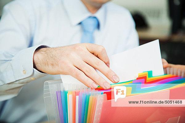Dokument für Büroangestellte