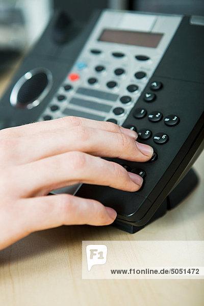 Office Worker Telefon mit Direktwahl