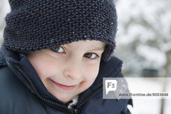 Boy in winter clothing  portrait