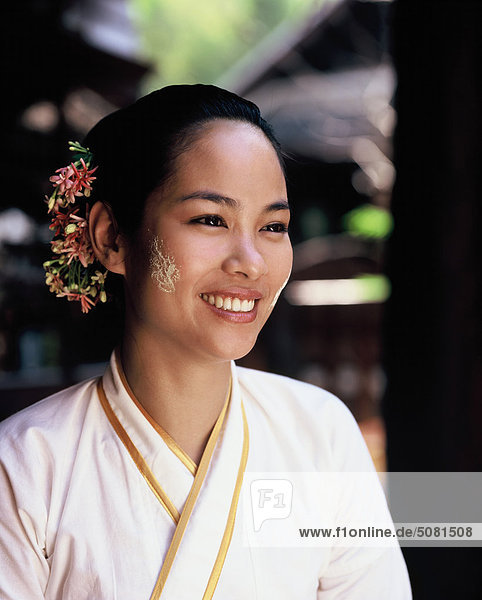 Close up of a thai woman