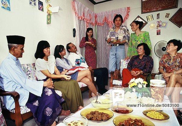 Open House für Hari Raya in Malaiisch Communityin Singapur