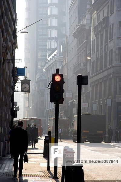 people walking in the zone of The City  London  Great Britain  UK