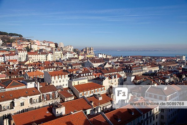 Partial view of the zone of Alfama in Lisbon  Portugal