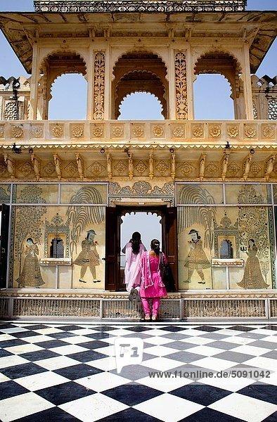 Terrasse  Indien  Rajasthan  Udaipur