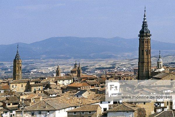 Calatayud Aussicht auf die Stadt  Aragon  Spanien