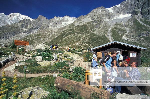 Aostatal. Alpen des Mont Blanc-Gruppe  Saussurea Naturpark