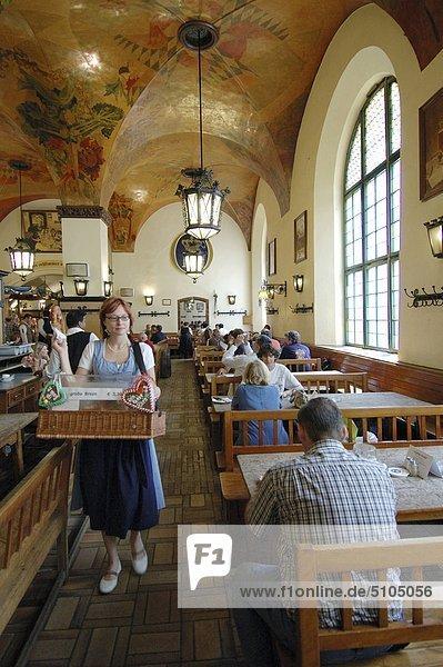 Europa  Deutschland  München  Hofbräuhaus Bierrestaurant
