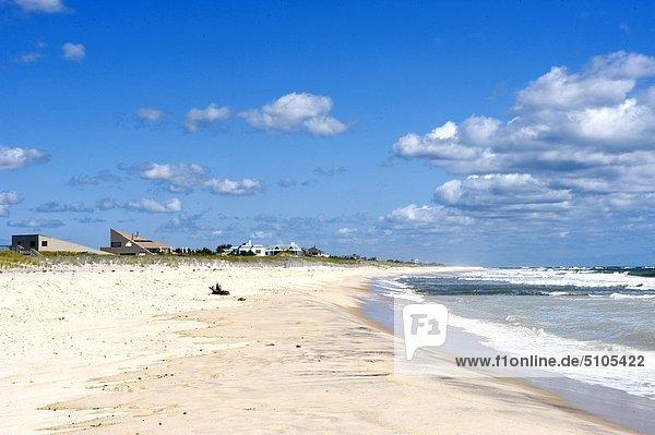 Vereinigte Staaten von Amerika USA New York City Strand Gebäude Fernverkehrsstraße Düne Long Island Southampton