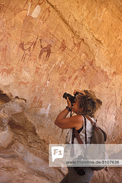 Libya  Jabal Akakus  rock paintings