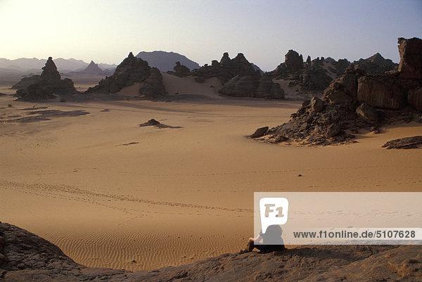 Libyen,  Jabal Akakus-Felsen