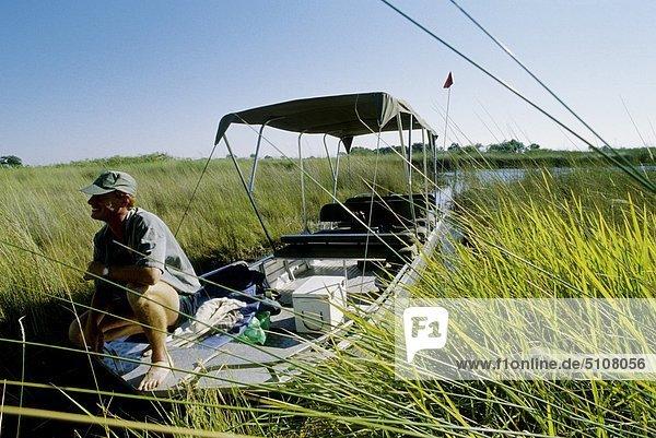 Botswana  Safari auf Boot am Chobe river Botswana, Safari auf Boot am Chobe river