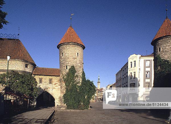 Estonia  Tallinn  fortification cityscape  the Sand door