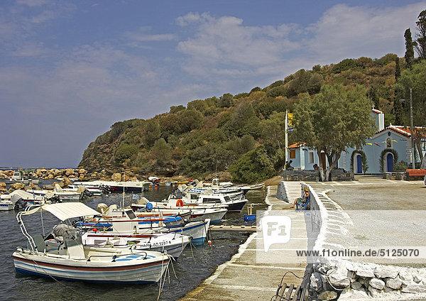 Greece  Samos harbour in Aghia Paraskevi Bay