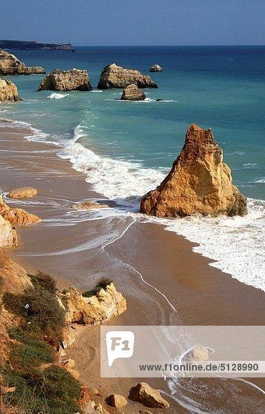 Strand  Algarve  Portugal  Praia da Rocha