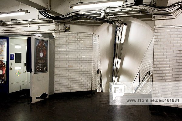 Paris  France. Subway station Chatelet is an underground maze of corridors.