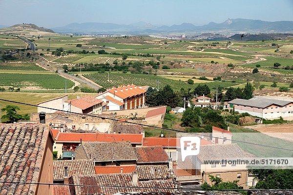 View from Briones village  La Rioja  Spain