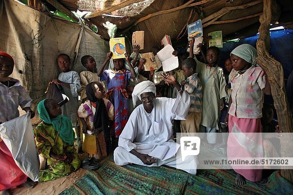 School in sudanese refugee camp in Chad