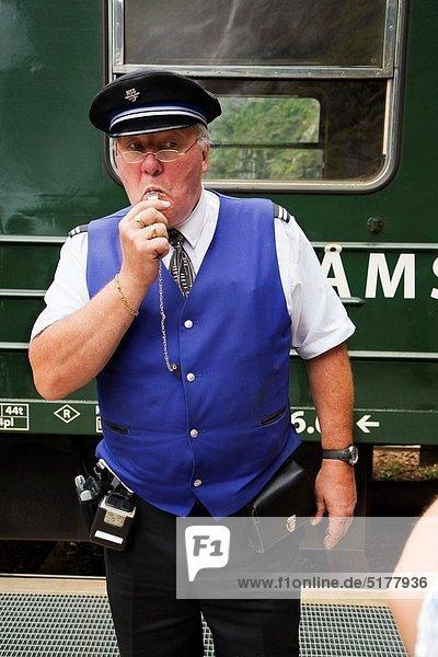 Flamsbana Train Sognefjord  Sogn & Fjordane  Norway.