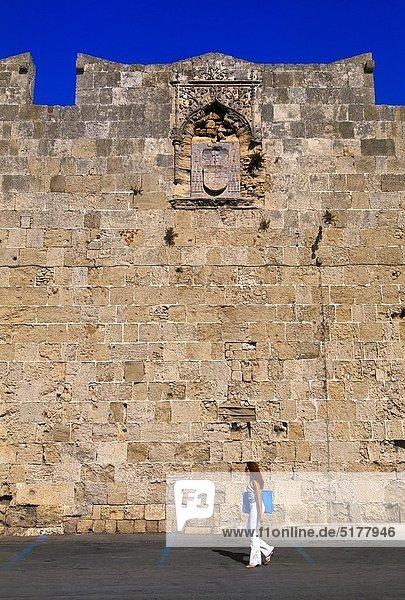 Stadtmauer  Großstadt  Jahrhundert  Griechenland  Rhodos