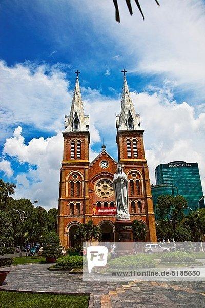 Notre Dame Cathedral. Ho Chi Minh City (formerly Saigon). South Vietnam.