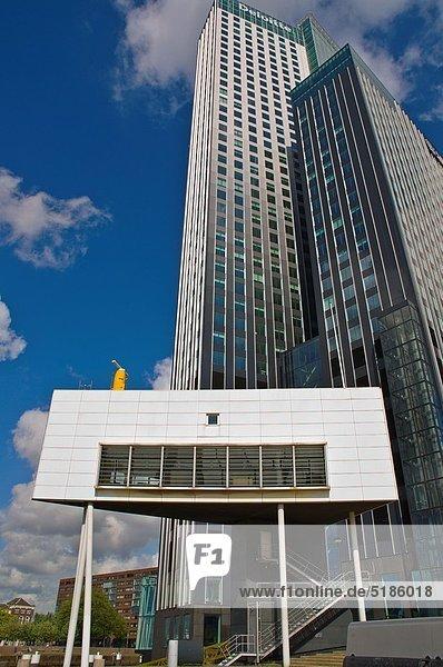 Kleintransporter Europa Gebäude Niederlande Ortsteil Rotterdam Lieferwagen