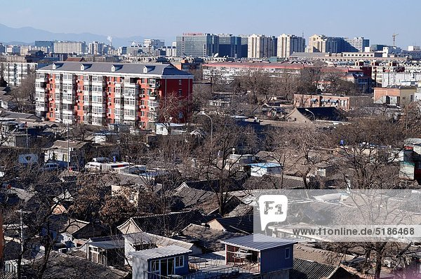 Beijing (China): view of the city from the top of the Bell Tower
