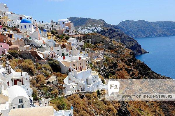 Insel  Kreuzfahrtschiff  Santorin  Griechenland  Oia  Ia