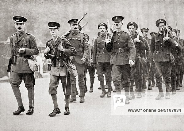 The Prince of Wales  later King Edward VIII  leading his company of Grenadier Guards in full service kit on a route march Edward VIII  Edward Albert Christian George Andrew Patrick David  later The Duke of Windsor  1894 – 1972 King of the United Kingdom. The Prince of Wales  later King Edward VIII  leading his company of Grenadier Guards in full service kit on a route march Edward VIII  Edward Albert Christian George Andrew Patrick David  later The Duke of Windsor  1894 – 1972 King of the United Kingdom From Edward VIII His Life and Reign
