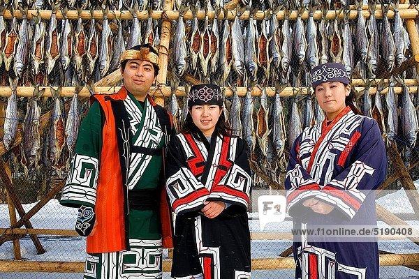 Mensch  Menschen  Museum  Dorf  Hokkaido  Japan