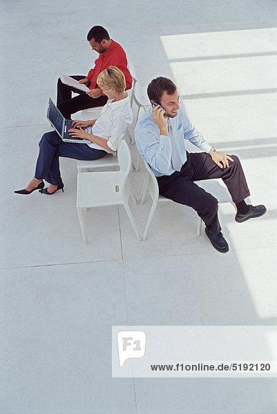 Eingangshalle  Mensch  Menschen  arbeiten  Business