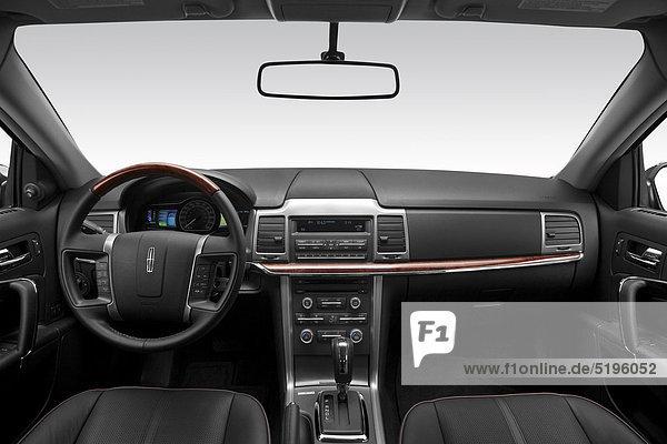 grau Lenkrad Hybridelektrokraftfahrzeug Mittelkonsole Armaturenbrett Lincoln