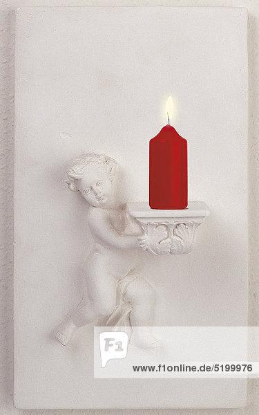 Kerzen-Wandhalter Mit Engelsrelief