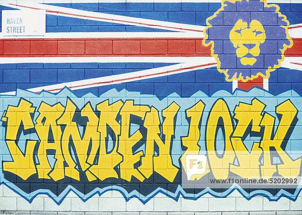 Graffiti mit Schriftzug Camden Lock