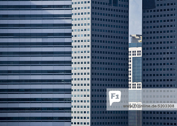 Hochhausfassaden  Singapur
