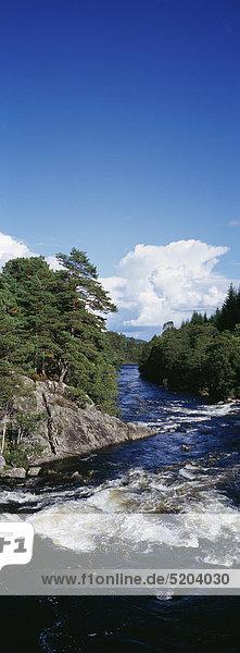 Tummel Fluß  Perthshire  Schottland  UK