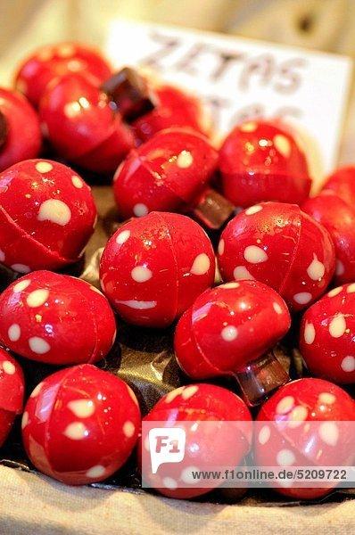 Schokolade Form Formen Barcelona Katalonien Markt Spanien