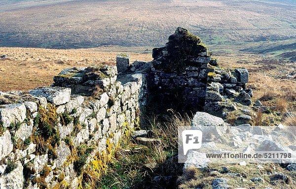 Wohnhaus Ruine Devon England alt rad