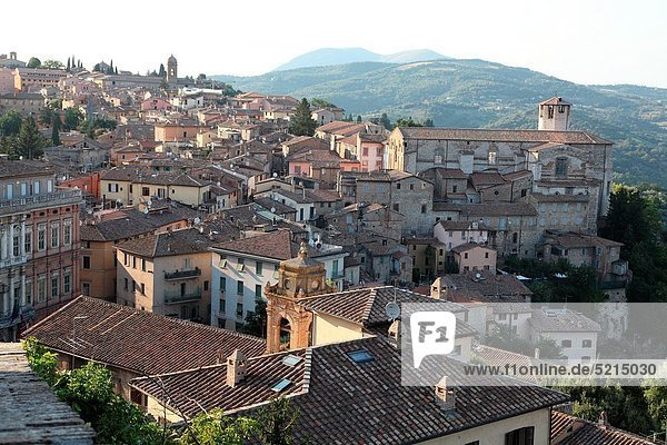 Panorama  Europa  Großstadt  Ansicht  Italien  Umbrien