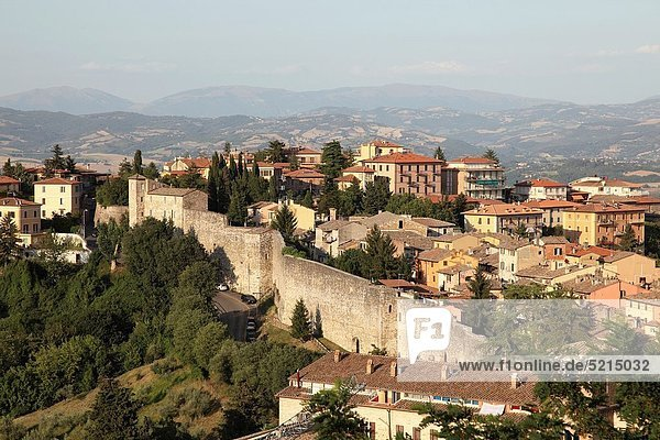 Panoramic View of the city of Perugia  Umbria  Italy  Europe